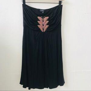 Sky Brand Black Strapless Mini Dress Large